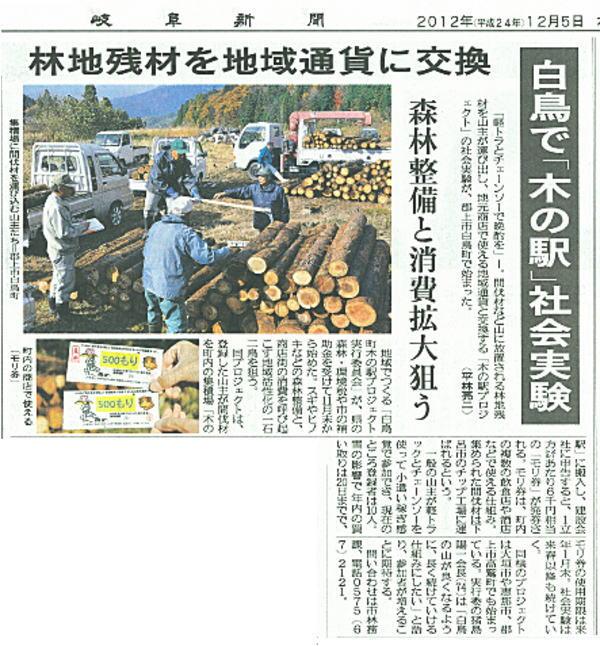 新聞記事(2012/12/05)
