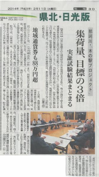 新聞記事(2014.2.11)